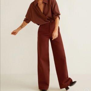 MANGO wide leg trouser sz 6